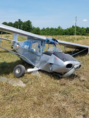 The pilot of a small aircraft was taken to the hospital for minor injuries after her plane crashed Thursday morning in northwest Arkansas.