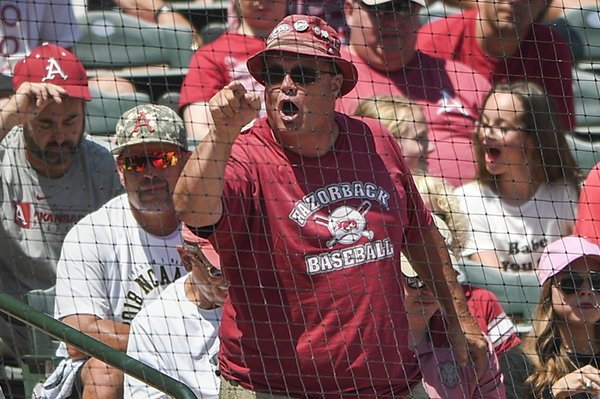 bobby-smittle-points-at-the-home-plate-umpire-during-a-game-against-south-carolina-on-sunday-june-10-2018-in-fayetteville