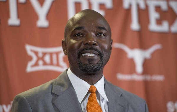 Edrick Floreal is introduced as the track & field coach at the University of Texas on Thursday, June 14, 2018, in Austin, Texas.