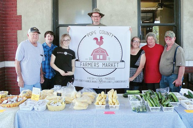 several-vendors-were-set-up-for-the-tuesday-evening-pope-county-farmers-market-on-june-5-at-the-russellville-depot-they-include-from-left-james-mashek-treylan-swaim-andi-kuroki-tom-green-lisa-alverson-rhonda-holland-and-ric-holland-the-pope-county-farmers-market-will-host-veggie-fest-on-saturday