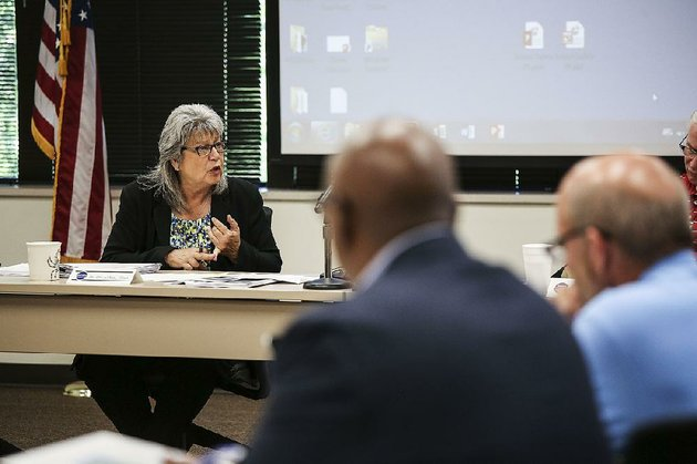 cheryl-may-chairman-of-the-arkansas-school-safety-commission-asks-questions-during-thursdays-commission-meeting-at-the-criminal-justice-institute-building-in-little-rock