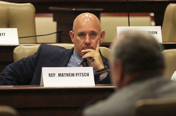 staton-breidenthal-credit-arkansas-democrat-gazette-rep-mathew-pitsch-r-fort-smith-listens-wednesday-to-testimony-during-a-meeting-of-the-tax-reform-and-relief-legislative-task-force-pitsch-won-a-runoff-primary-election-tuesday-for-senate-district-8-and-will-be-in-the-nov-6-general-election