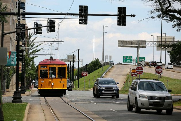 the-river-rail-trolley-cruises-down-east-second-street-in-little-rock-on-friday-about-a-dozen-streetcar-poles-mostly-along-east-second-street-will-need-to-be-removed-and-replaced-as-part-of-the-arkansas-department-of-transportations-30-crossing-project-rock-region-metro-has-estimated-the-cost-at-450000