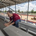 Thomas Pittman replaces the stadium seating numbers at Parsons Stadium to get the stadium ready for ...