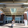 The terminal and front entrance is visible Friday at the Northwest Arkansas Regional Airport in High...