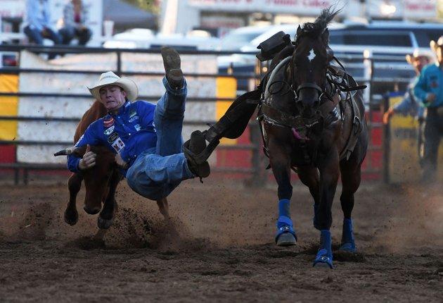 Erickson Tops Steer Wrestling Event