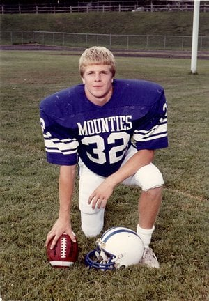 Submitted photo Billy Dunham in his Rogers High senior football photo in the fall of 1986.