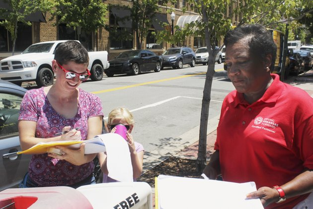 in-this-thursday-june-28-2018-photo-rachelle-tracy-signs-a-petition-in-downtown-little-rock-ark-from-canvasser-cynthia-ford-in-favor-of-putting-a-minimum-wage-hike-proposal-on-the-november-ballot-friday-july-6-is-the-deadline-for-initiative-campaigns-to-submit-signatures-to-qualify-for-the-ballot-ford-also-circulated-petitions-for-the-wage-hike-proposal-along-with-proposals-to-impose-strict-term-limits-and-to-legalize-casinos-ap-photoandrew-demillo