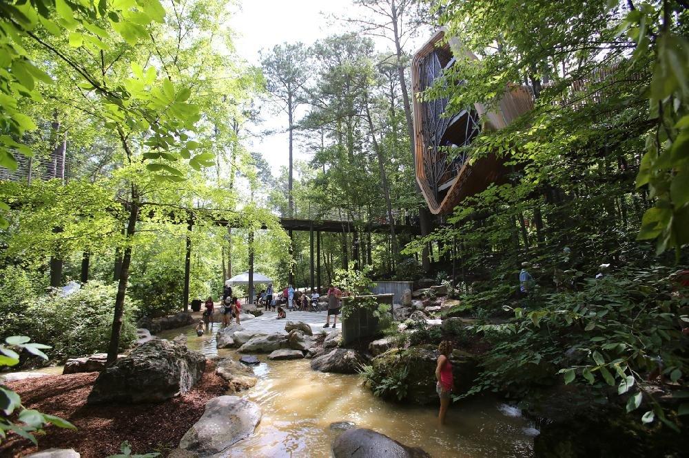 Photos 28 Foot Treehouse Debuts At Arkansas Gardens