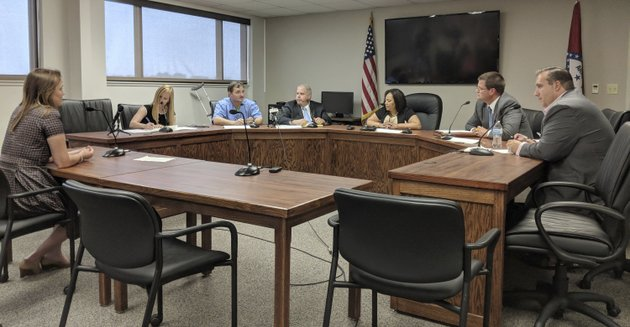 the-arkansas-medical-marijuana-commission-meets-monday-july-2-2018-to-discuss-options-for-hiring-an-independent-consultant-to-review-about-230-dispensary-applications-for-32-spots-in-little-rock-a-consultant-would-delay-the-launch-of-arkansas-medical-marijuana-initiative-but-would-also-help-allay-public-concerns-after-allegations-of-impropriety-which-arose-during-a-previous-licensing-process-ap-photohannah-grabenstein