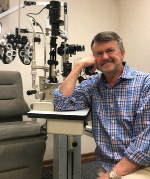 """Courtesy Photo Wife Kathy says that her husband Joe Horton sent personal thank you notes to his patients throughout his practice -- adding """"even when I was waiting dinner for him"""" with a laugh. Health issues have led Horton to retire."""