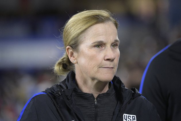 in-this-march-7-2018-file-photo-united-states-head-coach-jill-ellis-walks-onto-the-field-before-a-shebelieves-cup-womens-soccer-match-against-england-in-orlando-fla