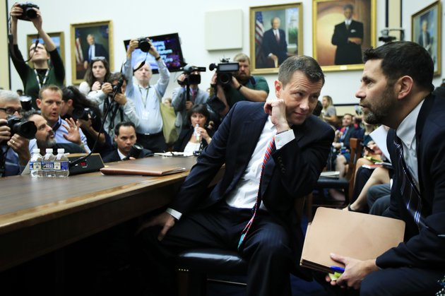 fbi-deputy-assistant-director-peter-strzok-talks-to-an-aide-as-he-waits-for-the-start-of-a-joint-hearing-on-oversight-of-fbi-and-department-of-justice-actions-surrounding-the-2016-election-on-capitol-hill-in-washington-thursday-july-12-ap-photomanuel-balce-ceneta