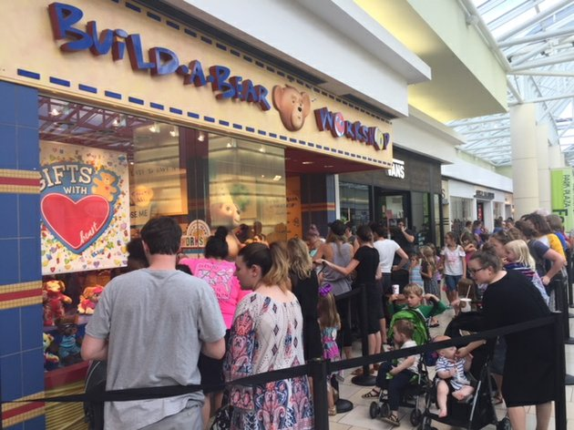 hundreds-of-people-lined-up-thursday-july-12-2018-in-front-of-the-build-a-bear-workshop-located-in-little-rocks-park-plaza-for-the-stores-pay-your-age-promotion