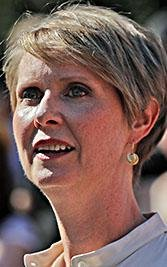 New York gubernatorial candidate Cynthia Nixon speaks during a pro-choice rally, Tuesday, July 10, 2018, in New York.