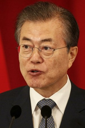 South Korea President Moon Jae-in speaks during a press conference at the Istana Presidential Palace in Singapore, Thursday, July 12, 2018.