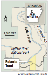 A map showing the Roberts tract.