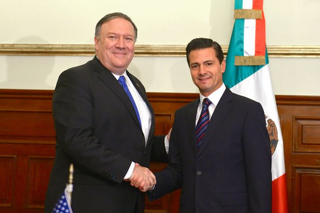 in-this-photo-released-by-mexicos-presidential-press-office-secretary-of-state-mike-pompeo-left-and-mexicos-president-enrique-pena-nieto-pose-for-a-photo-at-los-pinos-presidential-residence-in-mexico-city-friday-july-13-2018