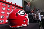 Georgia head coach Kirby Smart speaks during Southeastern Conference Media Days Tuesday, July 17, 2018, in Atlanta. (AP Photo/John Bazemore)