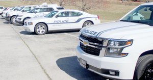 Keith Bryant/The Weekly Vista Squad cars, among other things, will be on display during the department's annual Night Out next Tuesday evening.