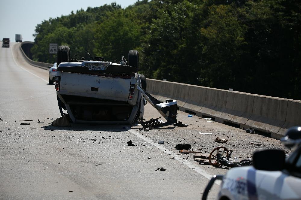 I-440 rollover accident