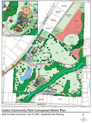 Courtesy Photo Rendering of plans for Gulley Park.