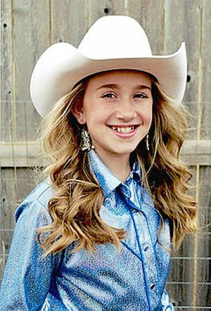 Submitted photo Chloie Thomas, 10, daughter of Andrew and Ashley Thomas, of Farmington, is a contestant for 2018 Lincoln Riding Club princess.