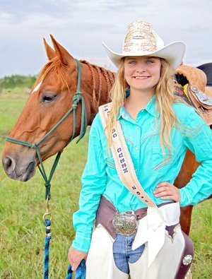 Submitted photo Shayla Fox, 18, daughter of Fannie Davenport, won the 2017 Lincoln Riding Club queen crown and will preside over the 2018 Lincoln Rodeo.
