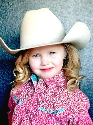 Submitted photo Lil' Miss contestant Langley Jones is the 4-year-old daughter of Jon David and Jessica Jones, of Lincoln. She will compete in the 2018 Lincoln Riding Club royalty pageant Wednesday, Aug. 8, at 7 p.m. at the Lincoln Square prior to the street dance which gets underway at 8 p.m.
