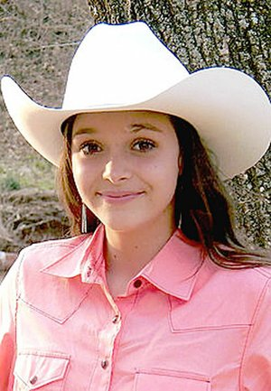 Submitted Photo Kylee Bobacher, 16, daughter of Sauncie Turn and Mark Bobacher, of Westville, Okla., is a contestant for 2018 Lincoln Riding Club queen.