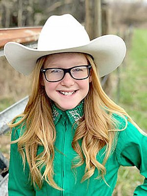 Submitted Photo Mika Arnold, 11, daughter of Mike and Amanda Arnold, of Lincoln, is a contestant for 2018 Lincoln Riding Club junior queen. Her older sister, Alexis, won the LRC junior queen crown in 2017.