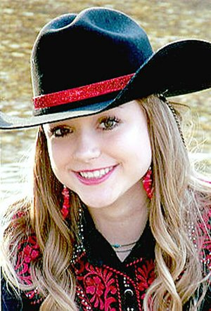 Submitted Photo Judy Gail McNeely, 14, daughter of Roy and Stacy Johnson and Rob McNeely, of Westville, Okla., is a contestant for 2018 Lincoln Riding Club junior queen.