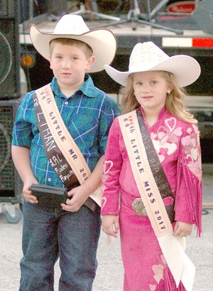 MARK HUMPHREY ENTERPRISE-LEADER Ethan Parker (left) won the 2017 Lil' Mister title while Bella Cate Keenan won the 2017 Lil' Miss title during last year's Lincoln Rodeo. Their reign concludes Wednesday, Aug. 8, 2018, when new junior royalty will be selected.