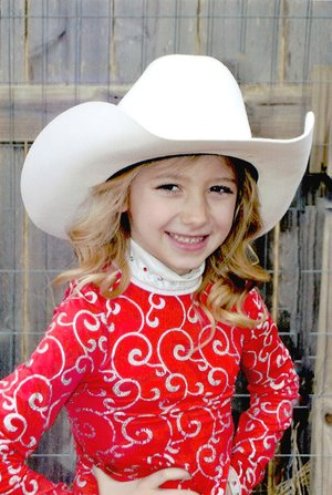 Submitted photo Emma Parker, 5-year-old daughter of Bryce and Jessie Parker, of Farmington, is a candidate for 2018 Lincoln Riding Club Lil' Miss. Emma completed Kindergarten at Bob Folsom Elementary in the spring. She has two brothers, Ethan and Mason.