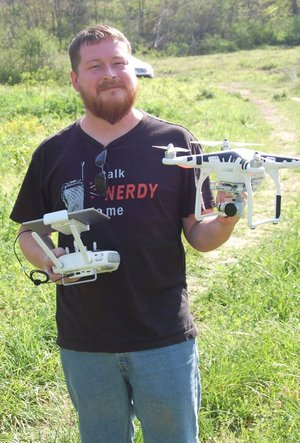 Courtesy photo Drone expert Drew Shoptaw will be at Hobbs State Park, Sunday, Aug. 12, to answer questions about drones. He really knows his subject well and welcomes all to come and learn the ins and outs of drones.