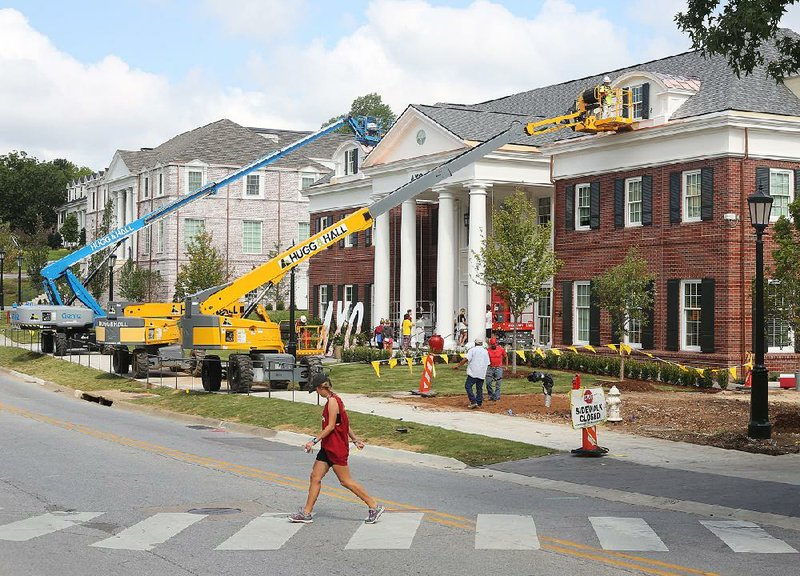U Of Arkansas >> Ua Gets Two New Sorority Houses Campus Greek Life Is On