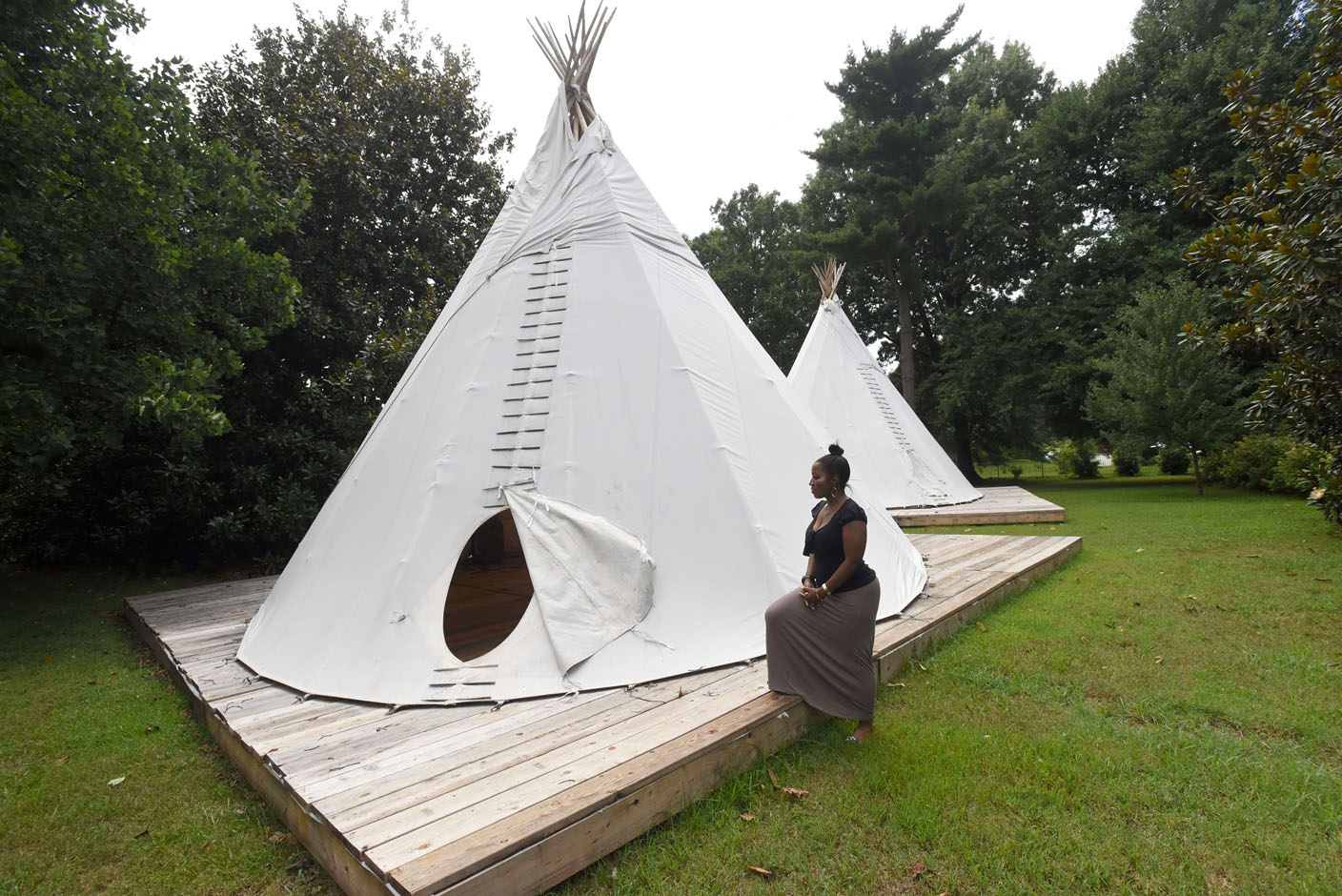 Tepees Await Cycling Campers