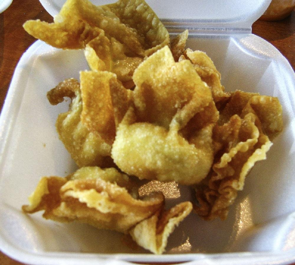 The crab rangoon at Asia Express in Cabot is crisp and the cream-cheese filling is smooth and silky.