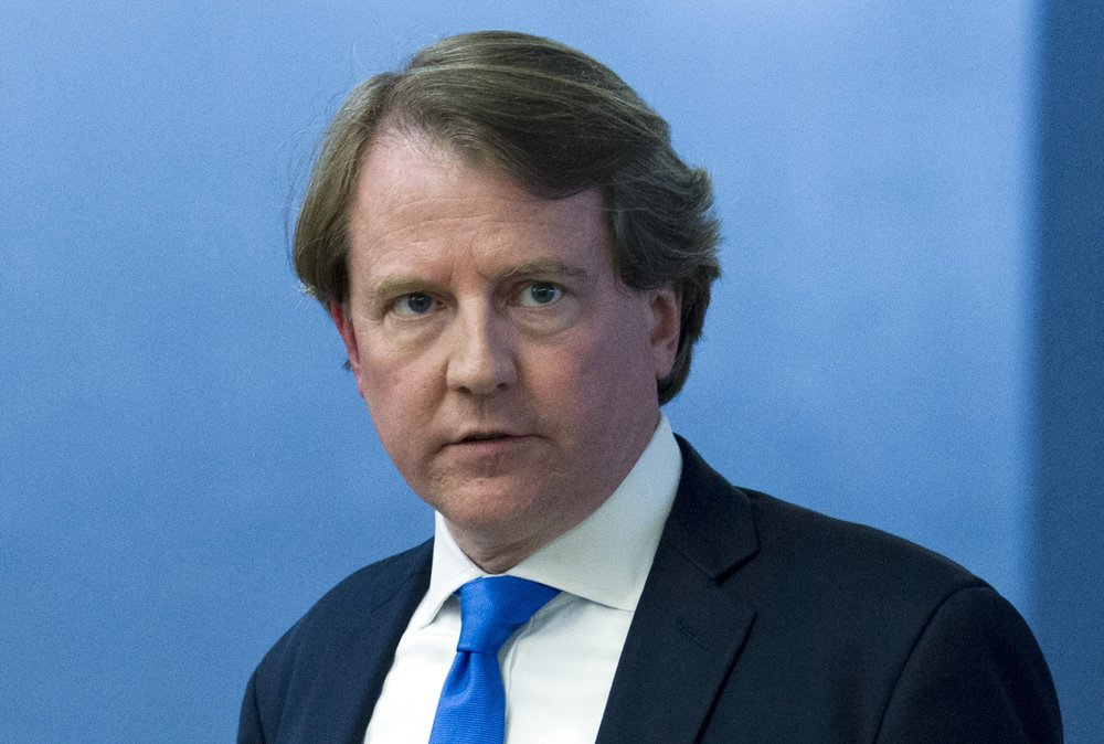White House counsel Don McGahn is shown in this Aug. 21, 2018 photo.
