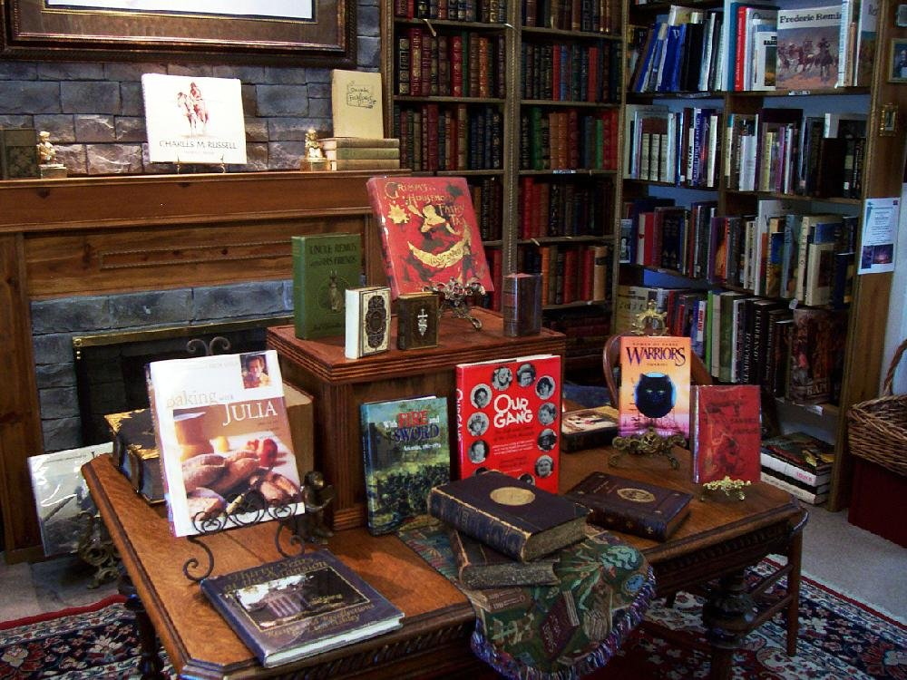 Vintage Books' rare and collectible books section resembled a private library.