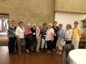 Photo submitted The Presbyterian Women's Fall Gathering was held at First Presbyterian Church in Springdale on Friday, Aug. 24. Attendees from the Presbyterian Church of Bella Vista were (from left): Barb Tropansky, Maryann Sweeney, Lois Ault, Denise Eicken, Betsy Smith, Vicki Erickson, Diane Allen, Terry Woods, Peggy McMenus, Sharon Warner, and Carol Ritchie.