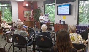 Photo submitted The Bella Vista Public Library thanks the Alzheimer's Association and the Schieding Center for bringing a fabulous program on Healthy Living for Your Brain and Body.