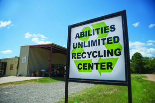 The Abilities Unlimited Recycle Center just off W. University Street in Magnolia.