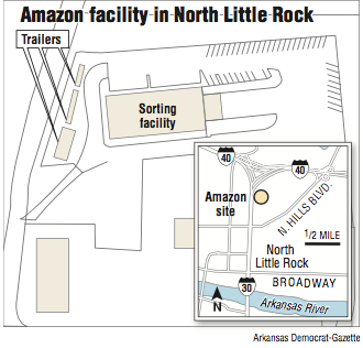 Amazon submits plan to put up large 'tent' in North Little Rock