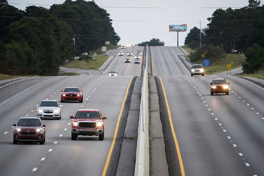 Traffic moves west Tuesday on all lanes of Interstate 26 in Columbia, S.C., after the eastbound lanes were reversed to allow people to flee coastal areas.