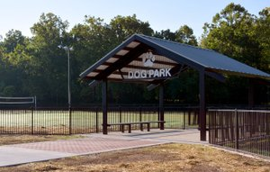 Hunter McFerrin/Herald-Leader A grand opening ceremony for the Tails and Trails Dog Park is planned for Saturday morning.