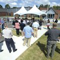 Visitors and employees gather Tuesday, Sept. 11, 2018, during a dedication ceremony for the Leroy Po...