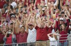 Arkansas fans cheer for their team before kickoff against Colorado State in an NCAA college football game, Saturday, Sept. 8, 2018, in Fort Collins, Colo. Colorado State won 34-27. (Austin Humphreys/The Coloradoan via AP)