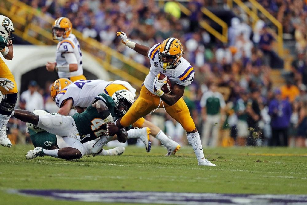 LSU running back Nick Brossette is averaging 6.4 yards per carry and 131.0 yards per game. Five SEC backs are averaging at least 130 yards per game this season.