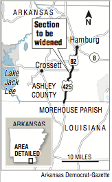 I 20 Louisiana Map.Bids Open For 4 Lane Link To I 20 From Southern Arkansas
